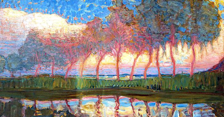 Le opere figurative di Piet Mondrian: la geometria invade i paesaggi ...