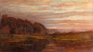 Piet_Mondrian-Evening landscape on the Gein