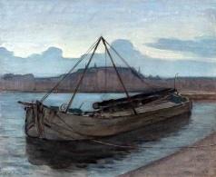 Piet_Mondrian-Evening on the Weespe