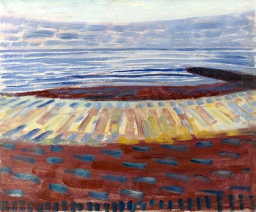 Piet Mondrian, See after sunset (1909)