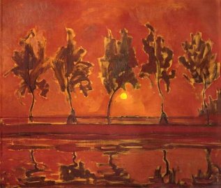 Piet_Mondrian-Trees on the Gein- moonrise