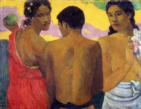 Paul Gauguin, Tre Tahitiani.