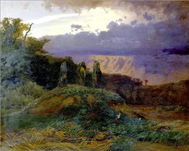 Arnold Böcklin, La tomba megalitica, 1847.