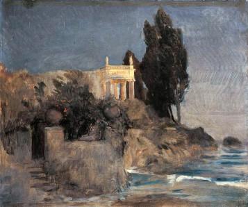Arnold Böcklin, Villa sul mare, 1863.