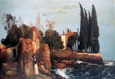 Arnold Böcklin, Villa sul mare, 1878.