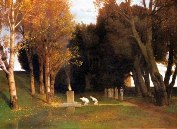 Arnold Böcklin, Il bosco sacro, 1882.