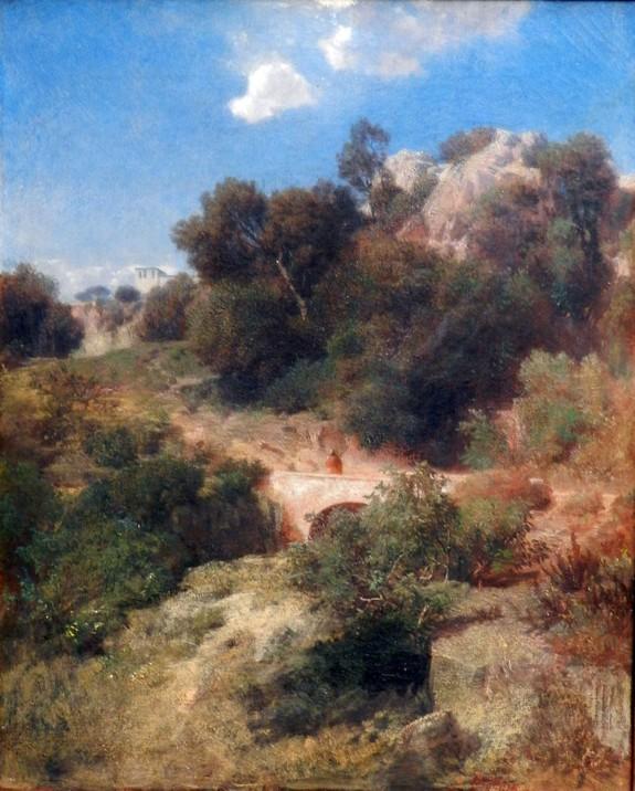 Arnold Böcklin, Paesaggio italiano, 1858.
