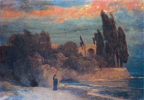 Arnold Böcklin, Villa sul mare, 1871.