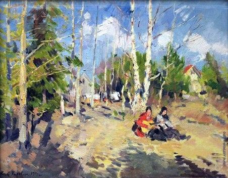 Konstantin Korovin, Giorno di sole, 1914.