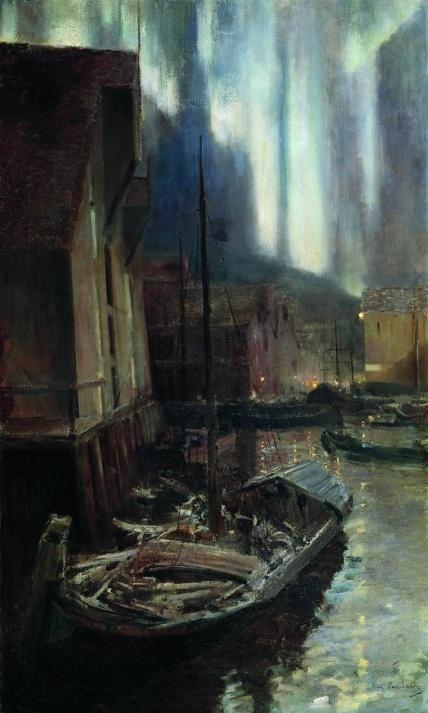 Konstantin Korovin, Aurora boreale, Hammerfest, 1894-95.