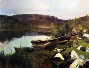 Konstantin Korovin, Ruscello di S. Triphon, 1894.