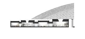 Particolare di sezione - Louvre di Abu Dhabi, © Atelier Jean Nouvel. Reperita su: https://www.archdaily.com/883157/louvre-abu-dhabi-atelier-jean-nouvel