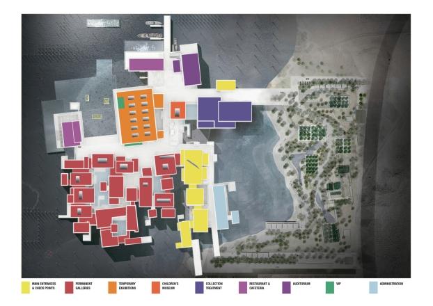 Louvre di Abu Dhabi, © Atelier Jean Nouvel. Reperita su: https://www.archdaily.com/883157/louvre-abu-dhabi-atelier-jean-nouvel