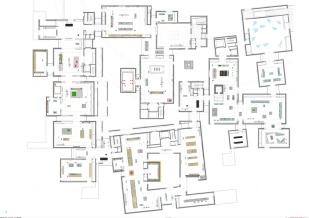 Pianta collezione permanete - Louvre di Abu Dhabi, © Atelier Jean Nouvel. Reperita su: https://www.archdaily.com/883157/louvre-abu-dhabi-atelier-jean-nouvel