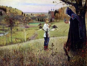 Michail Nesterov, La visione del giovane Varfolomey, 1889-90.