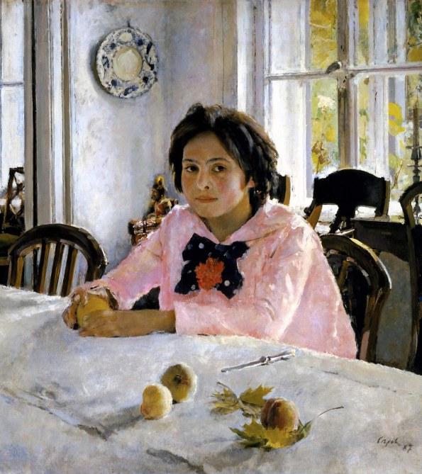 Valentin Serov, La ragazza con le pesche, 1887.