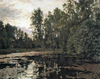 Valentin Serov, Stagno invaso dalla vegetazione, 1888.