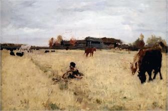 Valentin Serov, Ottobre a Domotcanovo, 1895.