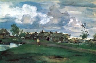 Valentin Serov, Villaggio, 1898.