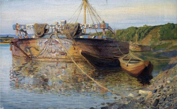 Vasilij Polenov, Chiatta sul fiume Ote, 1897.