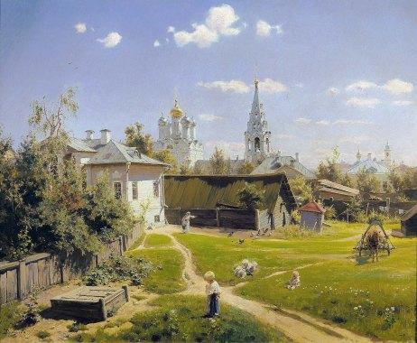 Vasilij Polenov, Cortile di Mosca, 1878.