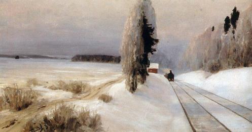 Vasilij Polenov, Ferrovia vicino alla stazione di Tarusa, 1903