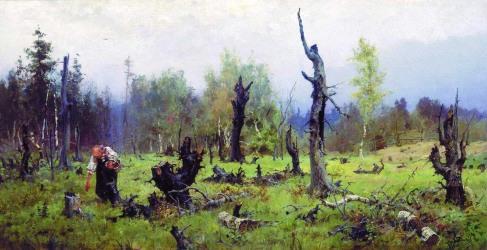 Vasilij Polenov, Foresta bruciata, 1881.