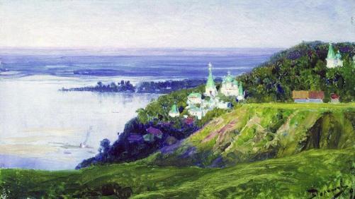 Vasilij Polenov, Monastero sul fiume, 1898.