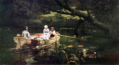 Vasilij Polenov, Sulla barca ad Abramcevo, 1880.
