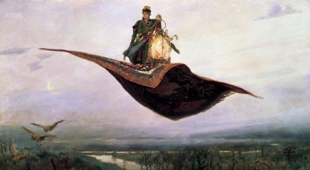 Viktor Vansetsov, Il tappeto volante, 1880.