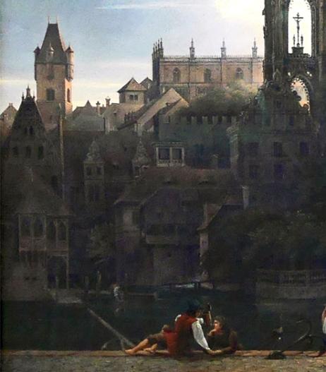 06_Karl Friedrich Schinkel, duomo gotico sull'acqua, 1813-part02