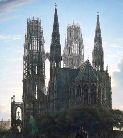 06_Karl Friedrich Schinkel, duomo gotico sull'acqua, 1813-part03