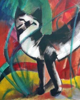 07_Franz Marc, Tre gatti, 1913-2