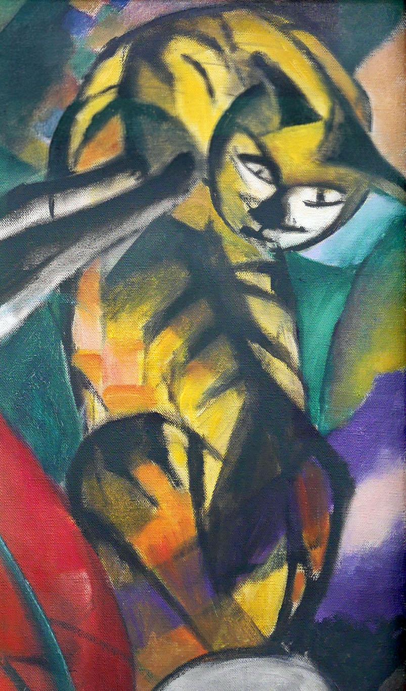 07_Franz Marc, Tre gatti, 1913-3