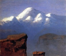 Archip Kuindzi, Cima dell'Elbrus illuminata dal sole, 1898-1908