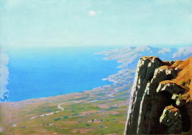 Archip Kuindzi,Costa marina con roccia, 1898-1908