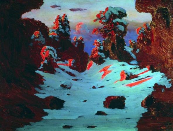 Archip Kuindzi, Effetto del tramonto, 1885-90