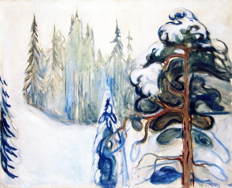 Edvard Munch, Paesaggio invernale, 1906