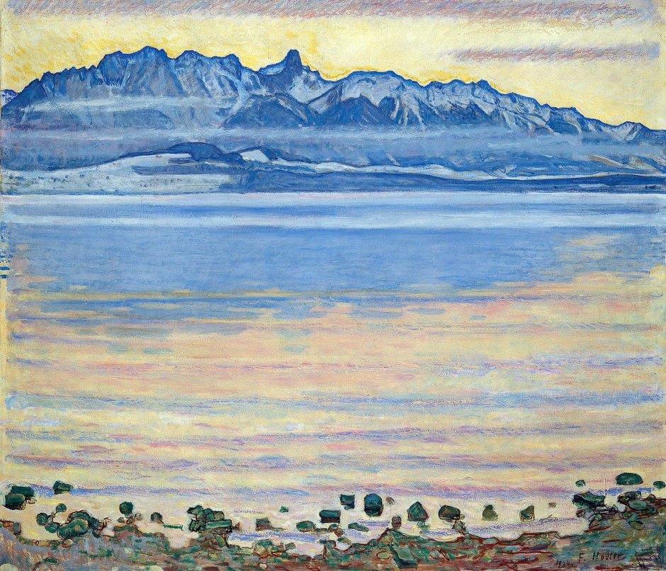 Ferdinand Hodler, Il Lago di Thun e lo Stockhorn, 1904