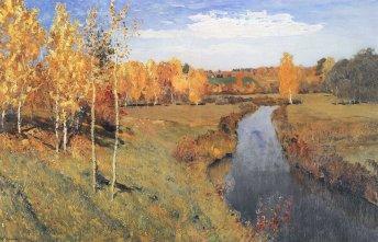 Isaak Levitan, Autunno dorato, 1895