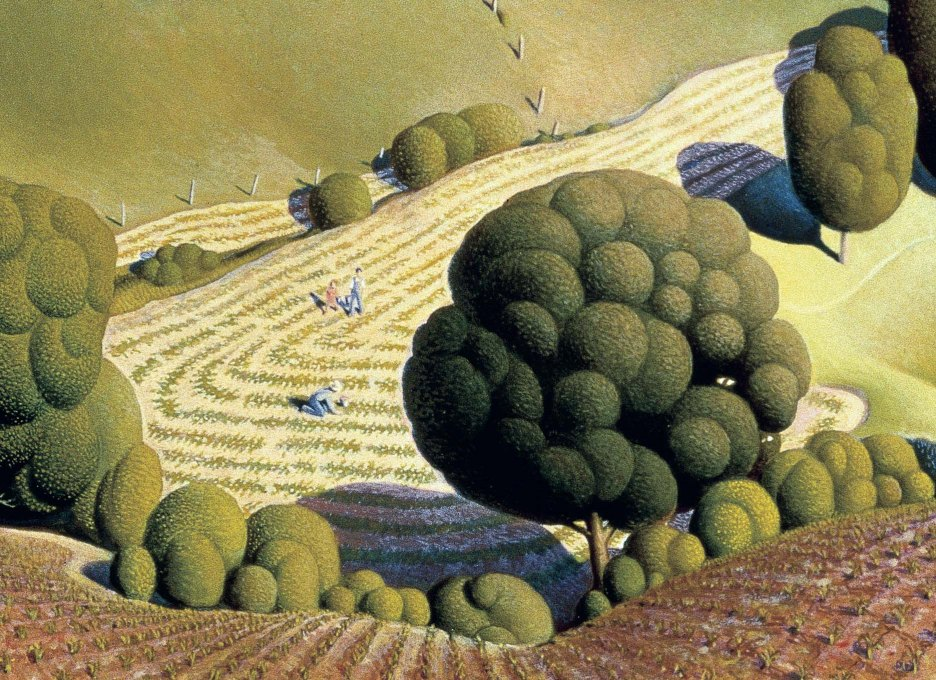 09_Grant Wood, Young corn, 1931-part1