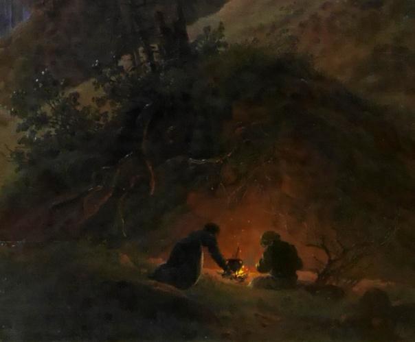14_Caspar David Friedrich, Nel profondo della foresta sotto la lucedella luna, 1823-30, part1
