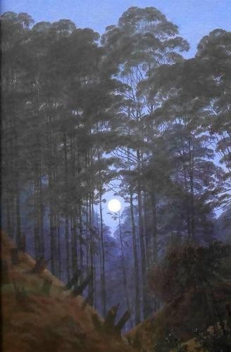 14_Caspar David Friedrich, Nel profondo della foresta sotto la lucedella luna, 1823-30, part2