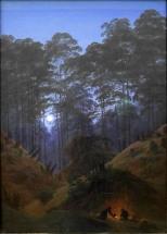 Caspar David Friedrich, Nel profondo della foresta sotto la luce della luna, 1823-30
