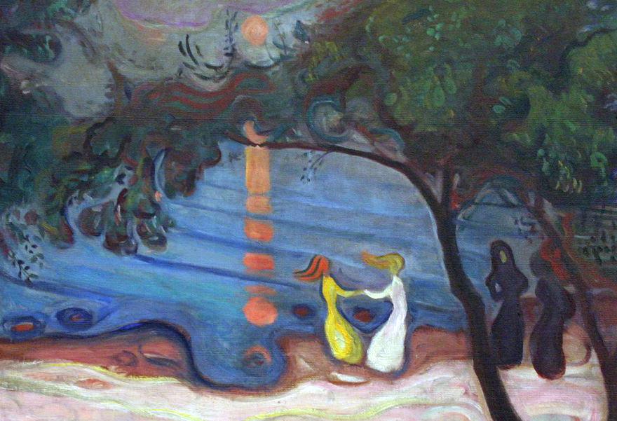 20_ Edvard Munch, Danzando sulla spiaggia, 1900, part1