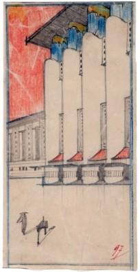 Antonio Sant'Elia, Edificio monumentale a uso pubblico, 1912