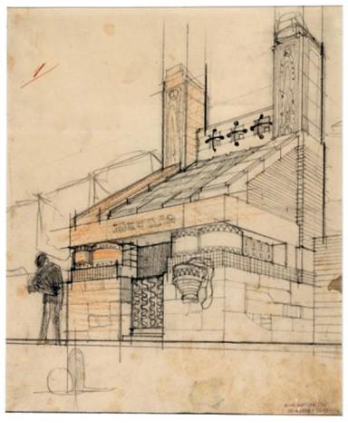 Antonio Sant'Elia, Studio per il progetto del nuovo Cimitero di Monza