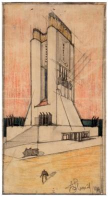 Antonio Sant'Elia, Torre con lanterne, 1912