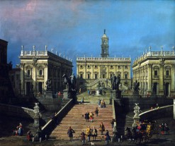 Canaletto, la Piazza del Campidoglio e la Cordonata, 1740-45