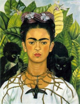Frida Kahlo, Autoritratto con collana di spine e colibrì, 1940